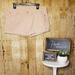 EUC + 7 for all mankind + pink sparkle shorts